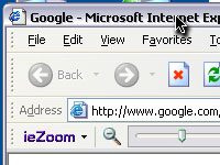 ieZoom toolbar